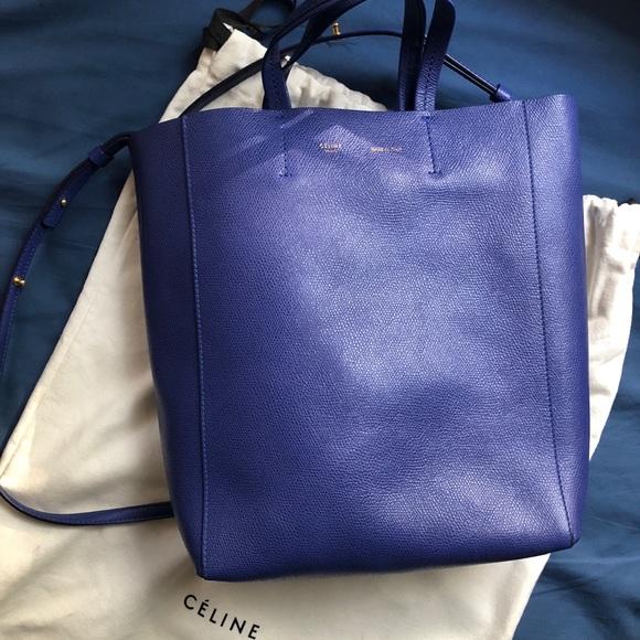 bac9755fb6 Celine Handbags - CELINE Grained Calfskin Small Vertical Cabas Indig
